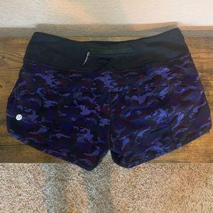 Lululemon size 4 purple camo speed shorts